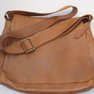 Genuine Leather crossbody bag by ROOTS CANADA